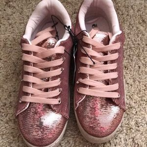 NWT Forever 21 Etc. Pink Sequins Sneakers